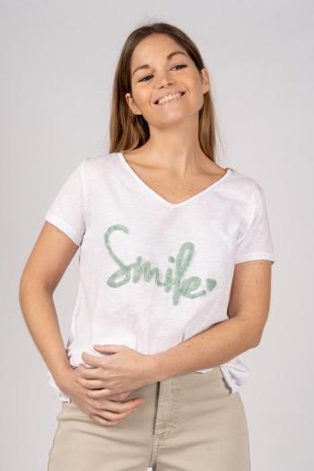 CAMISETA SMILE VERDE