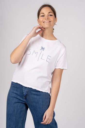 CAMISETA SMILE AZUL